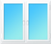 Plastové okno dvojdílné sloupek 2000x1350 mahagon/zlatý dub | levé, pravé | dvojsklo, klika bronz | parapet vnější hnědá 130mm